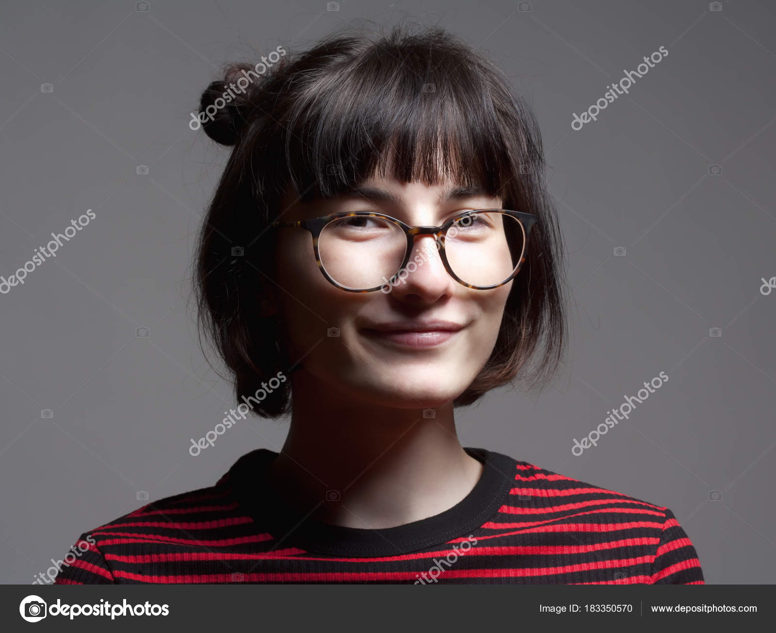 dark glasses and with hair Women