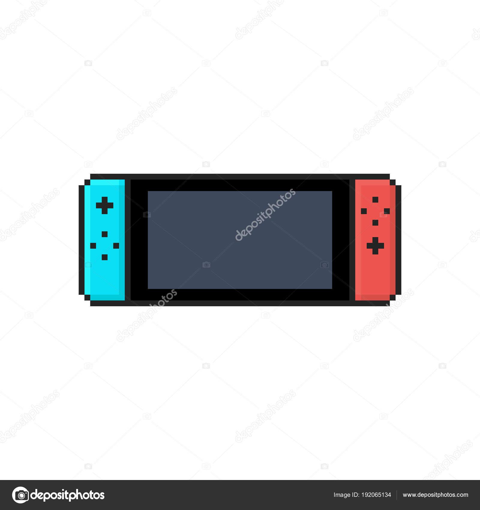 Plat Icône Isolé Une Console Vidéo Mobile Sur Fond Blanc