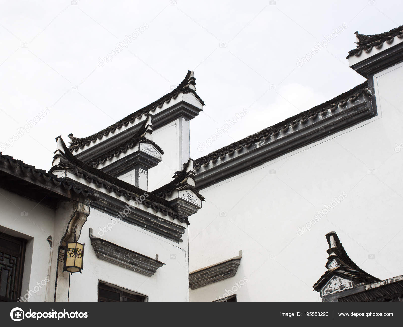 Architectural Elements Of Traditional Chinese Design Stock Photo C Askarimullin 195583296