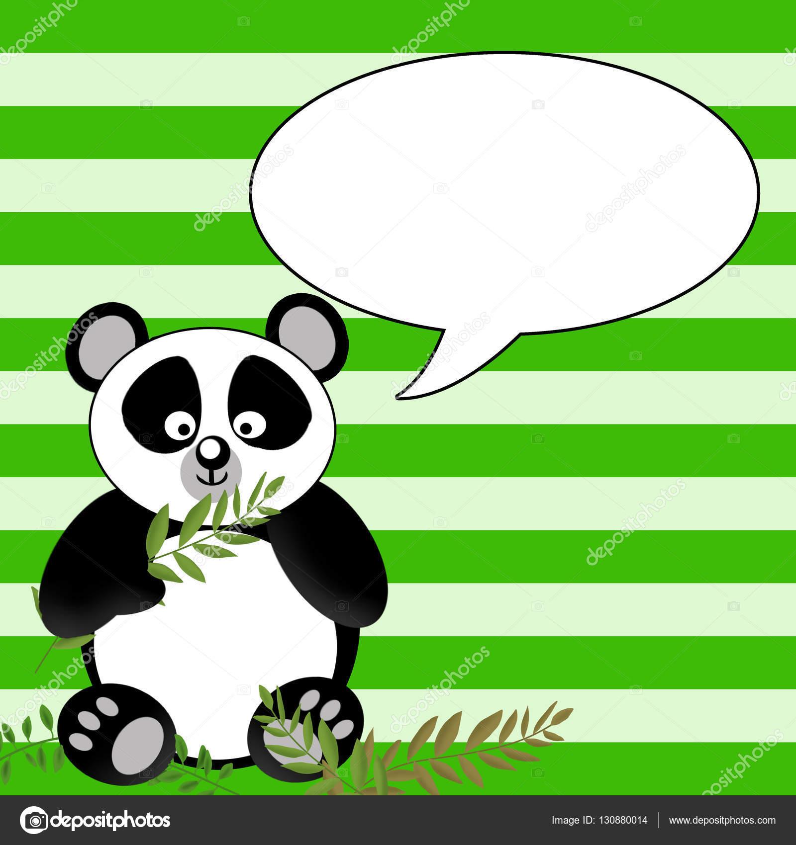 e04e834b7444 Fun Panda Bear Graphic Illustration - talk bubble — Stock Photo ...