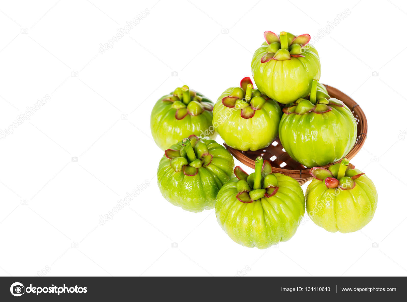 Garcinia Cambogia Fresh Fruit Isolated On White Fruit For Diet