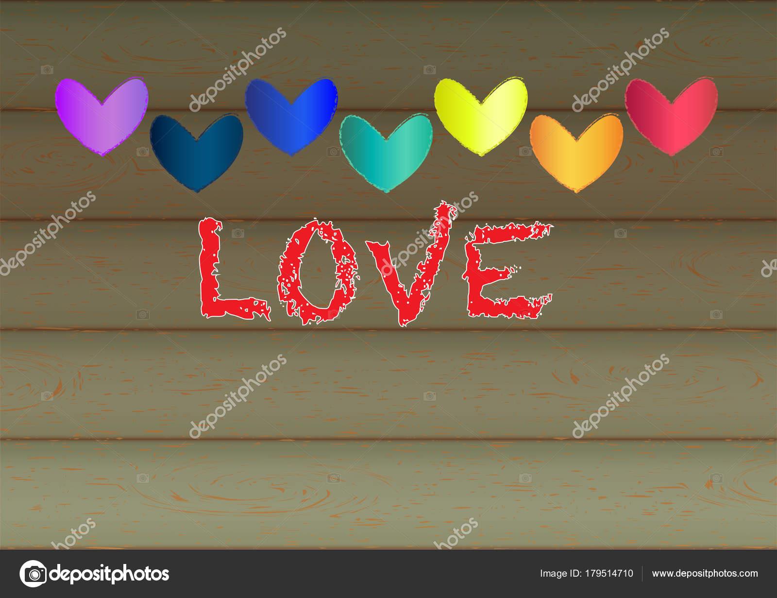 Valentine Heart Shape Design For Love Symbols Retro Style Vector