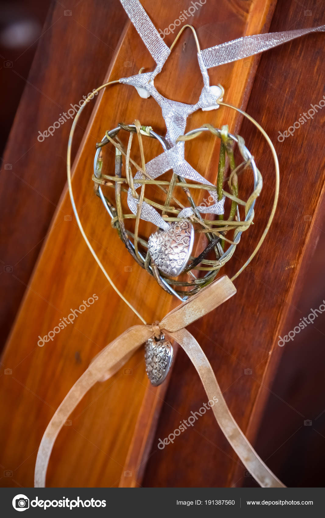 Wedding Decor Church Elements Small Wire Ribbon Heart