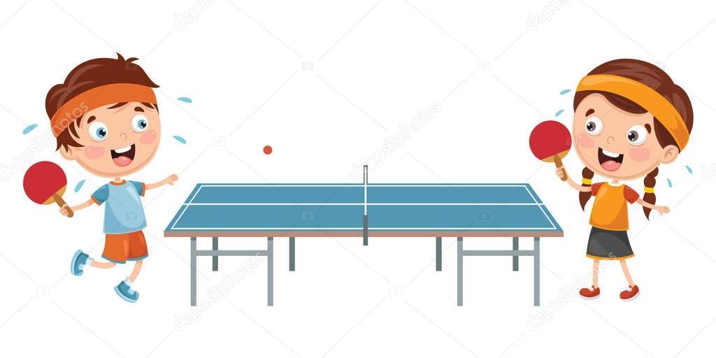 Tischtennis Spielen