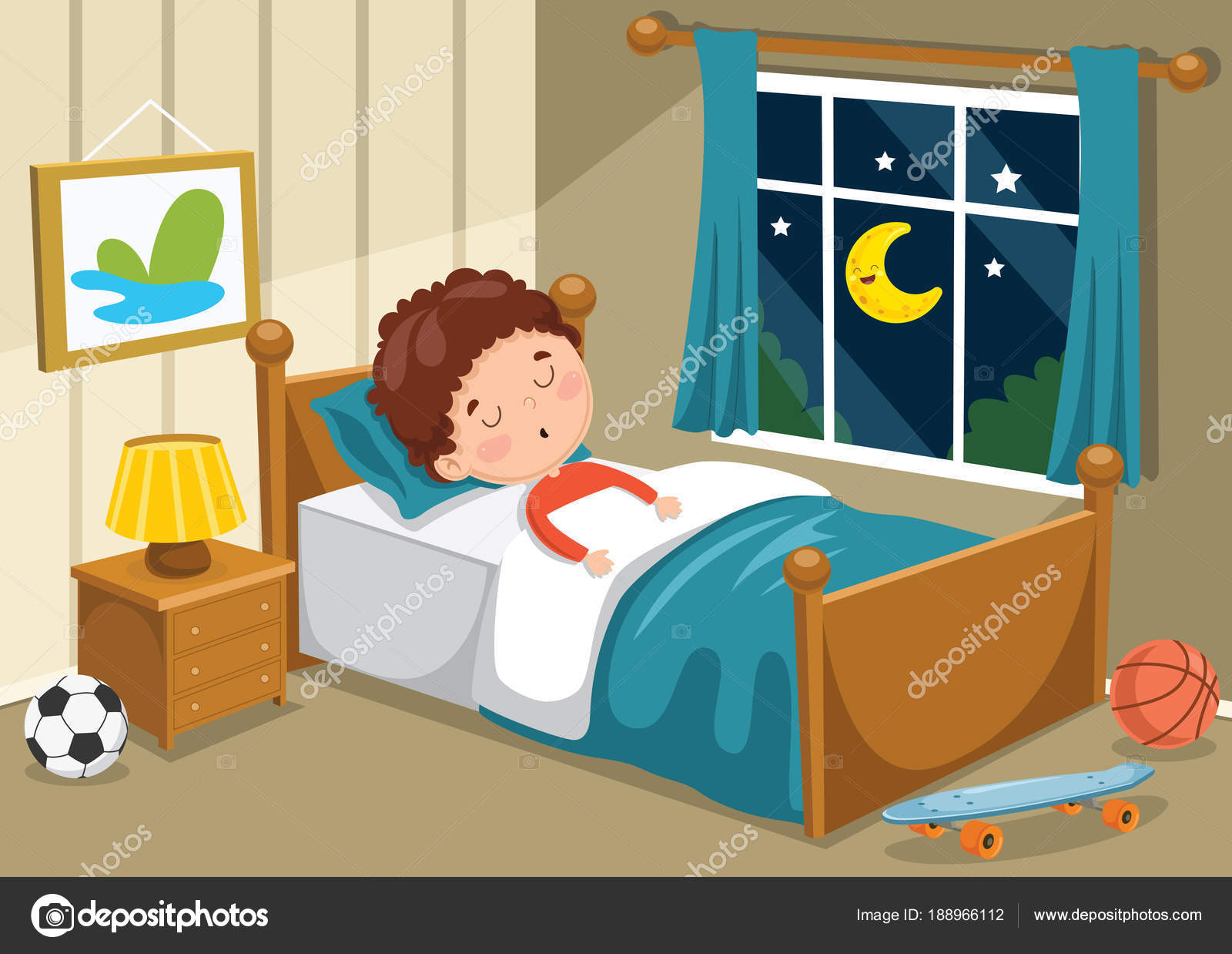 Ilustración Vectorial Niños Durmiendo