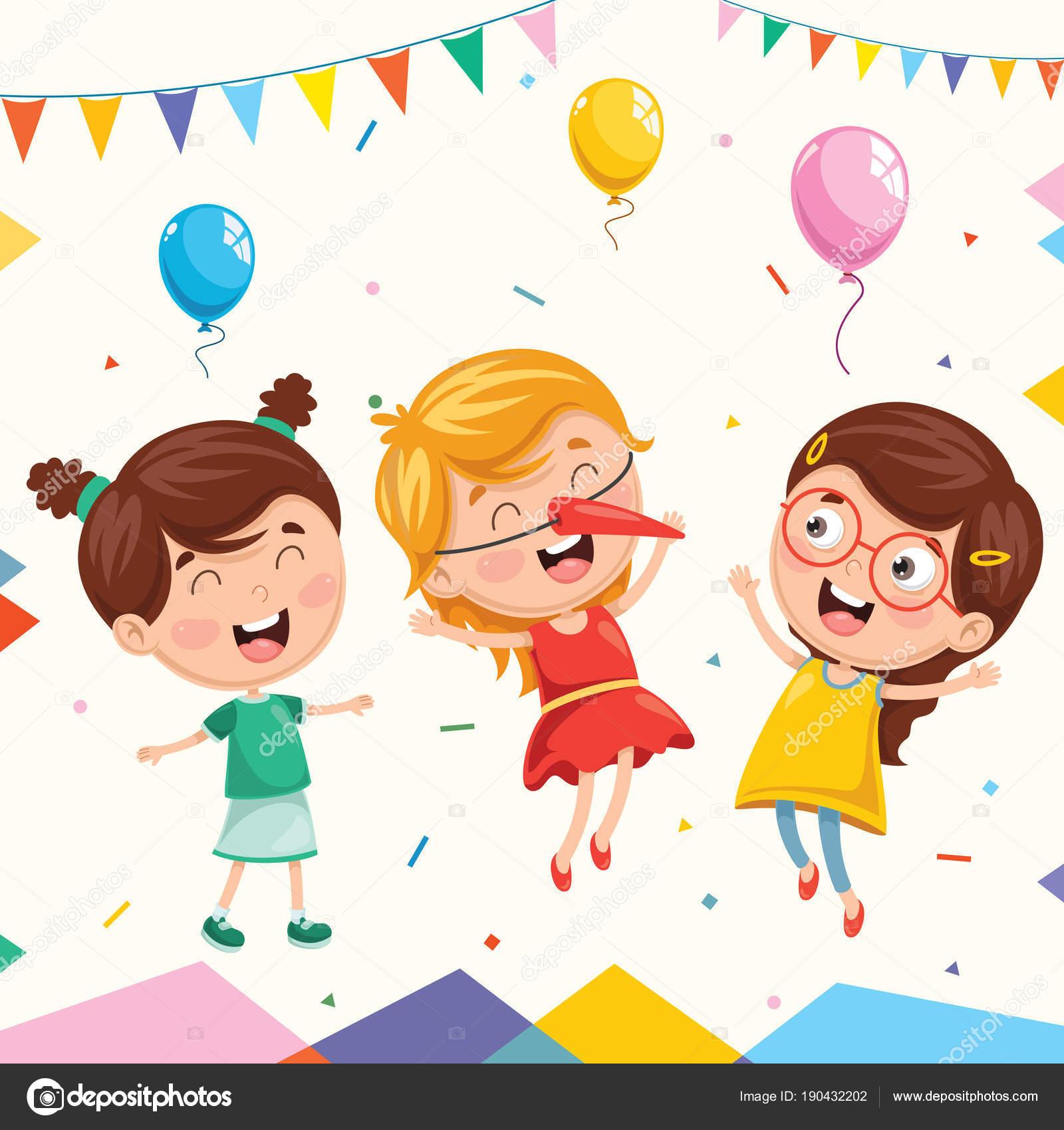 子供の誕生日パーティーのベクトル イラスト ストックベクター