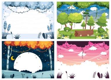 Vector Illustration Set Of Landscapes