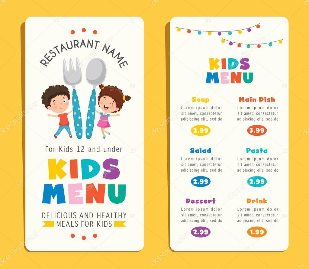Menu Template For Kids from st3.depositphotos.com