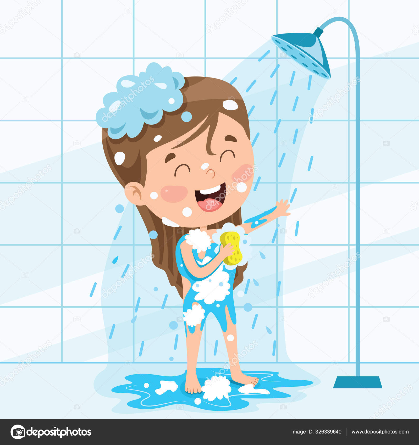 ᐈ Child taking a bath stock cliparts, Royalty Free child having bath  vectors | download on Depositphotos®