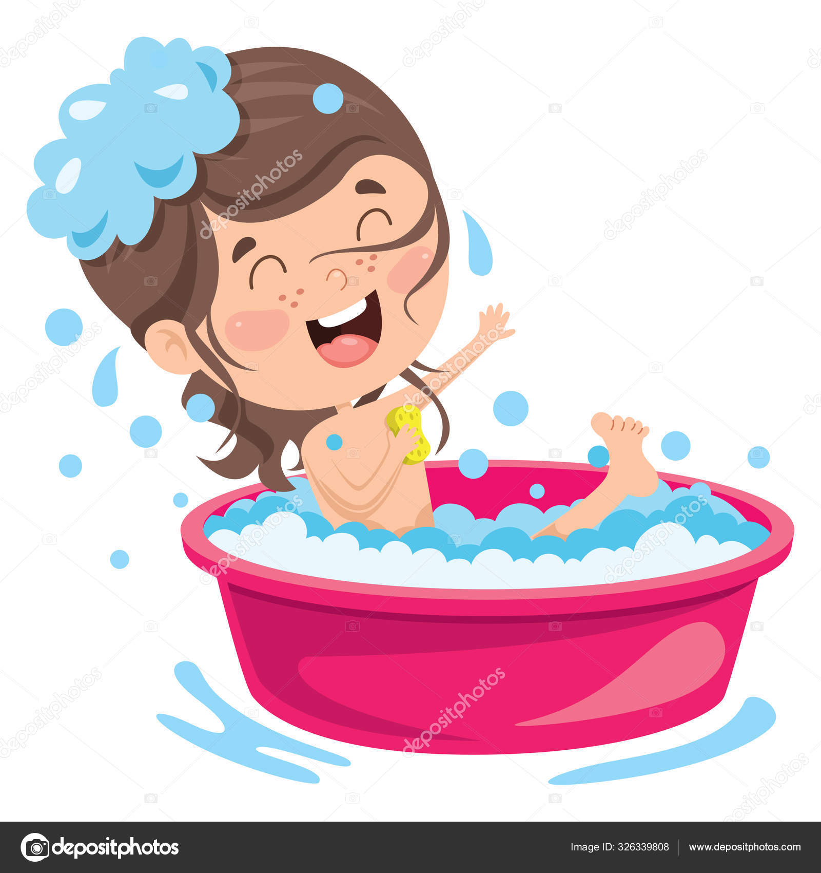 ᐈ Child Taking A Bath Stock Cliparts Royalty Free Child Having Bath Vectors Download On Depositphotos