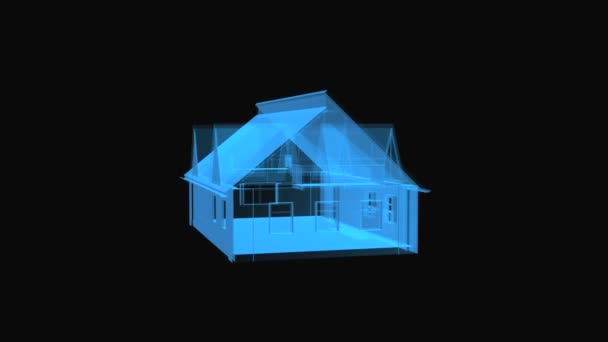 A animated loop of a rotating house in a blueprint style stock a animated loop of a rotating house in a blueprint style stock video malvernweather Images