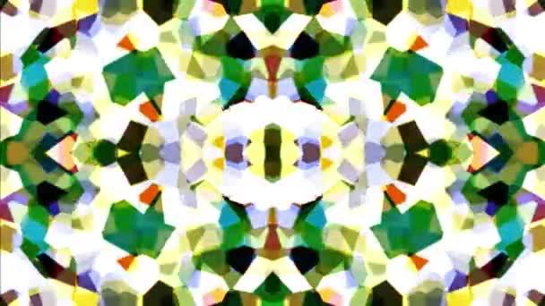ein animierter Looping-Hintergrund, der aussieht, als würde man in ein Kaleidoskop blicken