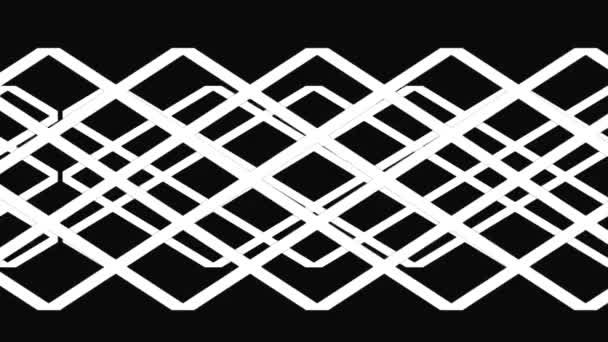 A motion graphic of Interlacing Weave or Lattice pattern