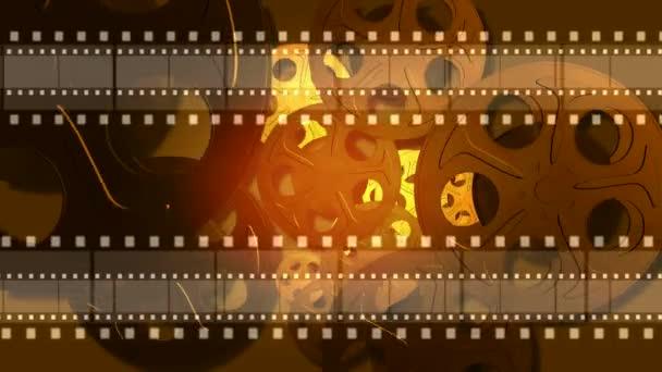 Absztrakt film tekercs hurkolás mozgó háttér