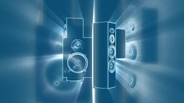 Abstraktní opakování pohybu pozadí zvukového systému