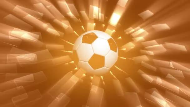 rotující fotbal s abstraktní pozadí