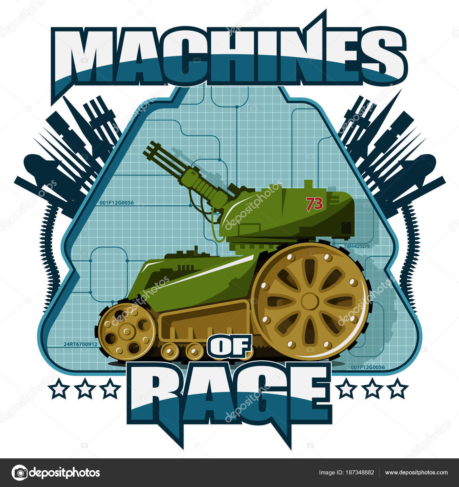 Bot Militare Sfondo Blu Emblema Militare Sfondo Testo Trovano