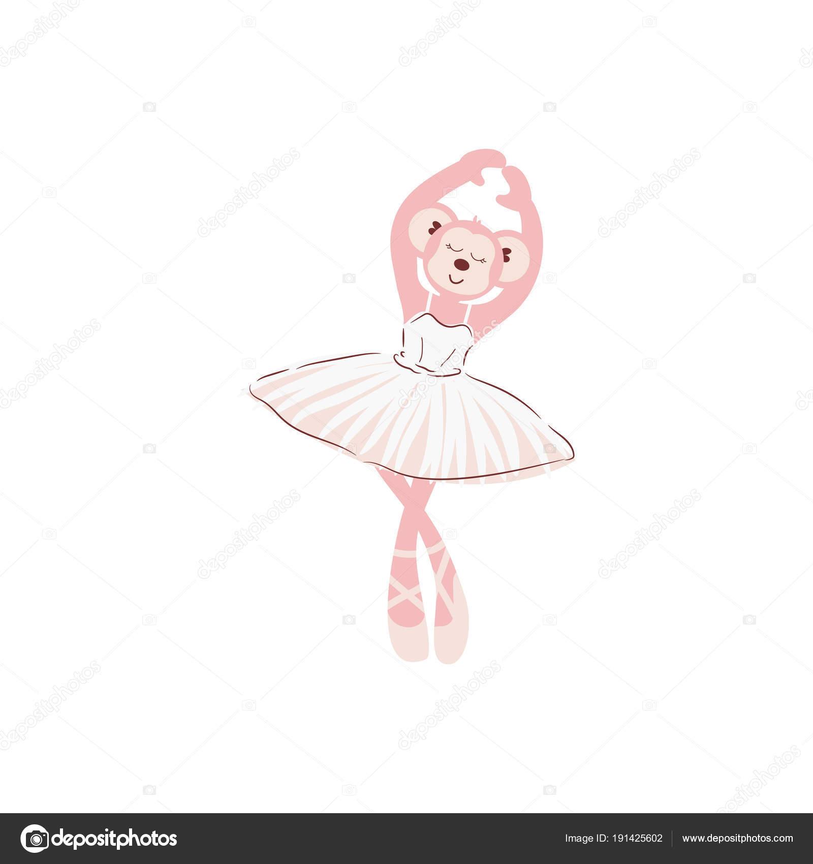 Dibujos Vestidos Bonitos Ilustracion De Vector Lindo Mono