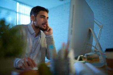 entrepreneur working on computer