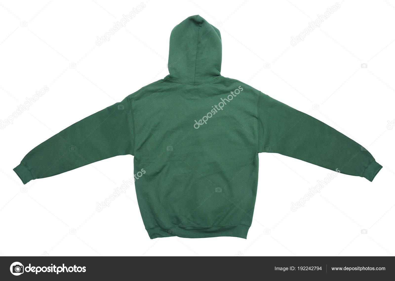 2e5374692076 Απλώνονται Κενό Hoodie Φούτερ Πίσω Θέα Πράσινο Χρώμα Άσπρο Φόντο ...