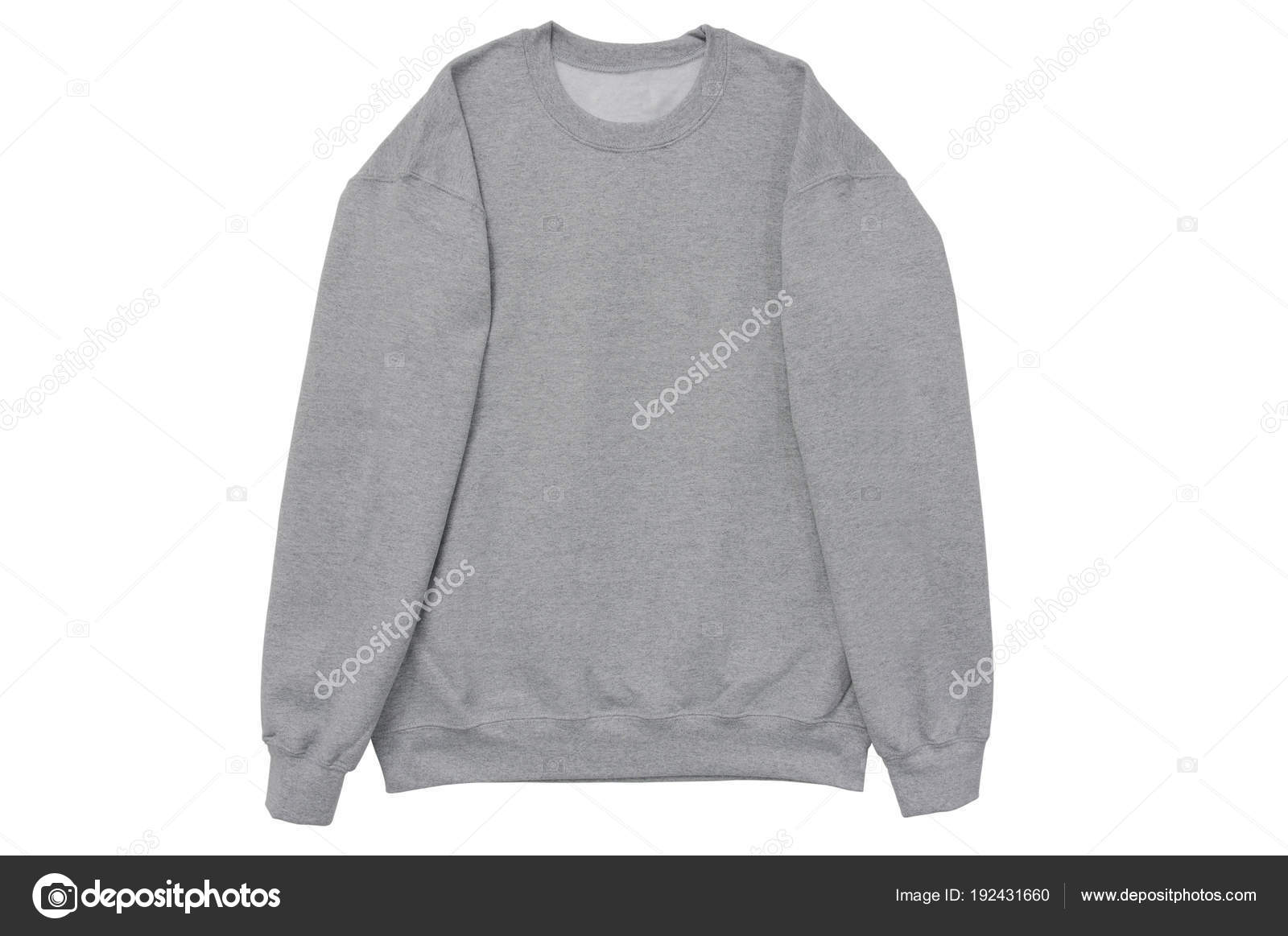blank sweatshirt color grey template front arm view white background