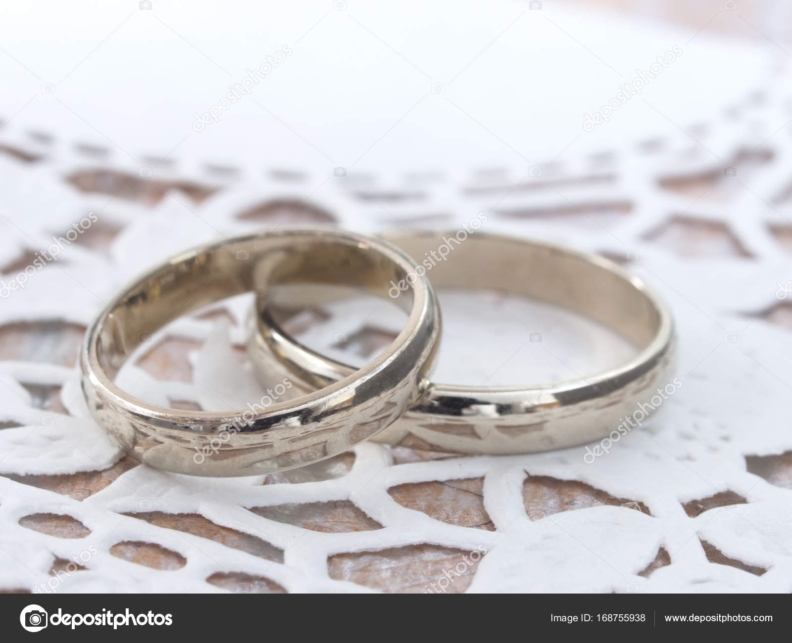 golden wedding rings Stock Photo vesnac 168755938