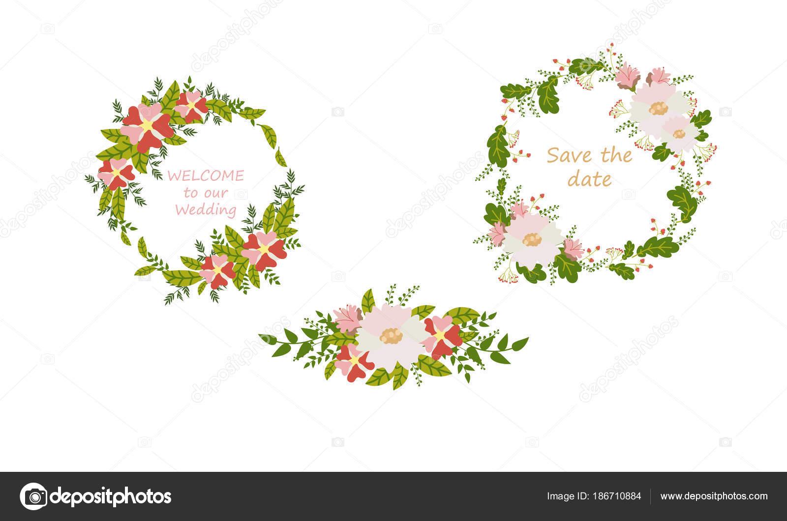 Flower Card Invitation Banner Template Wedding Invitation Date Card