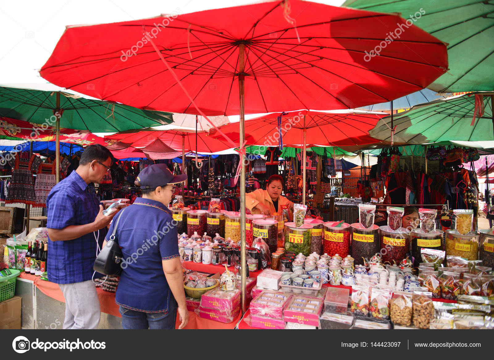CHIANG RAI THAILAND - FEBRUARY 13 2017  Mae Sai market Thailand and foreign tourists walking tour popular market in Mae Sai. Because has a a variety of ... & Mae Sai street market. u2013 Stock Editorial Photo © 501room #144423097