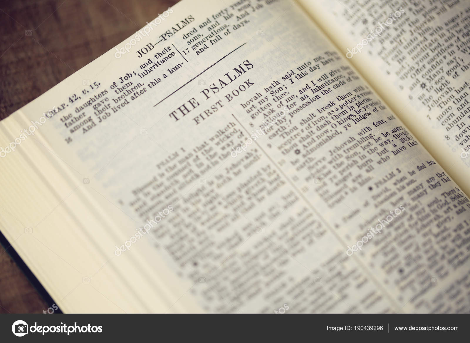 Escritura Salmos Biblia — Foto de stock © chenyinhong1960@yahoo.com ...