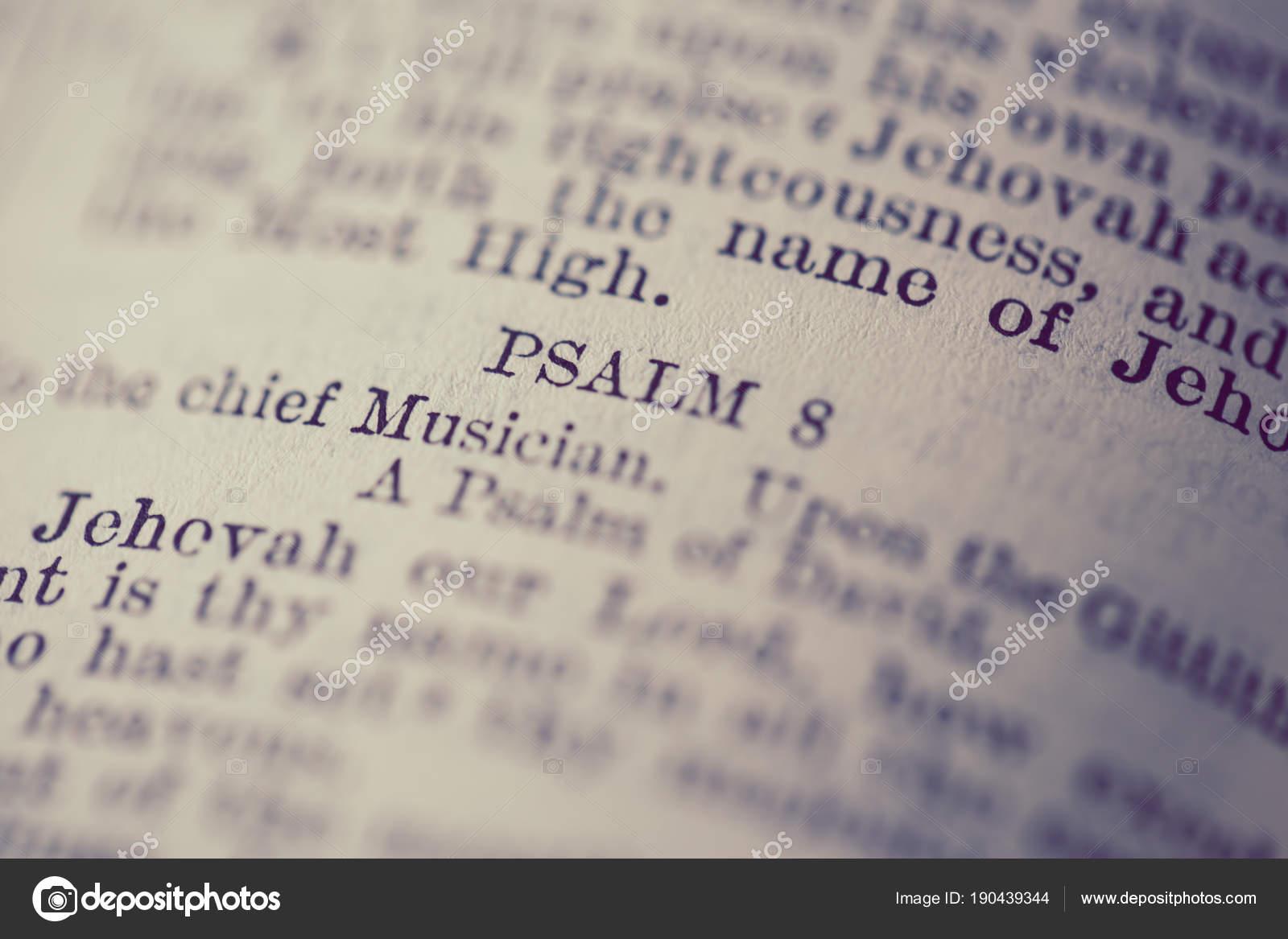 Escritura Salmos Biblia Fotos De Stock Chenyinhong1960 At Yahoocom