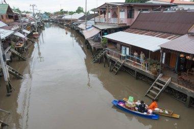 SAMUTSONGKHRAM, THAILAND - JUNE 6 : Ampawa floating market is a