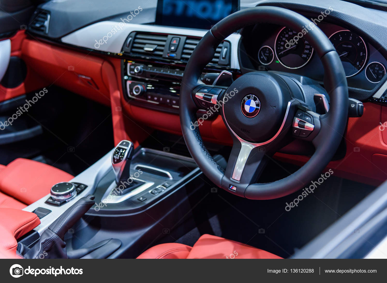 Image Inside Of Bmw 420d Convertible M Sport Car Stock Editorial