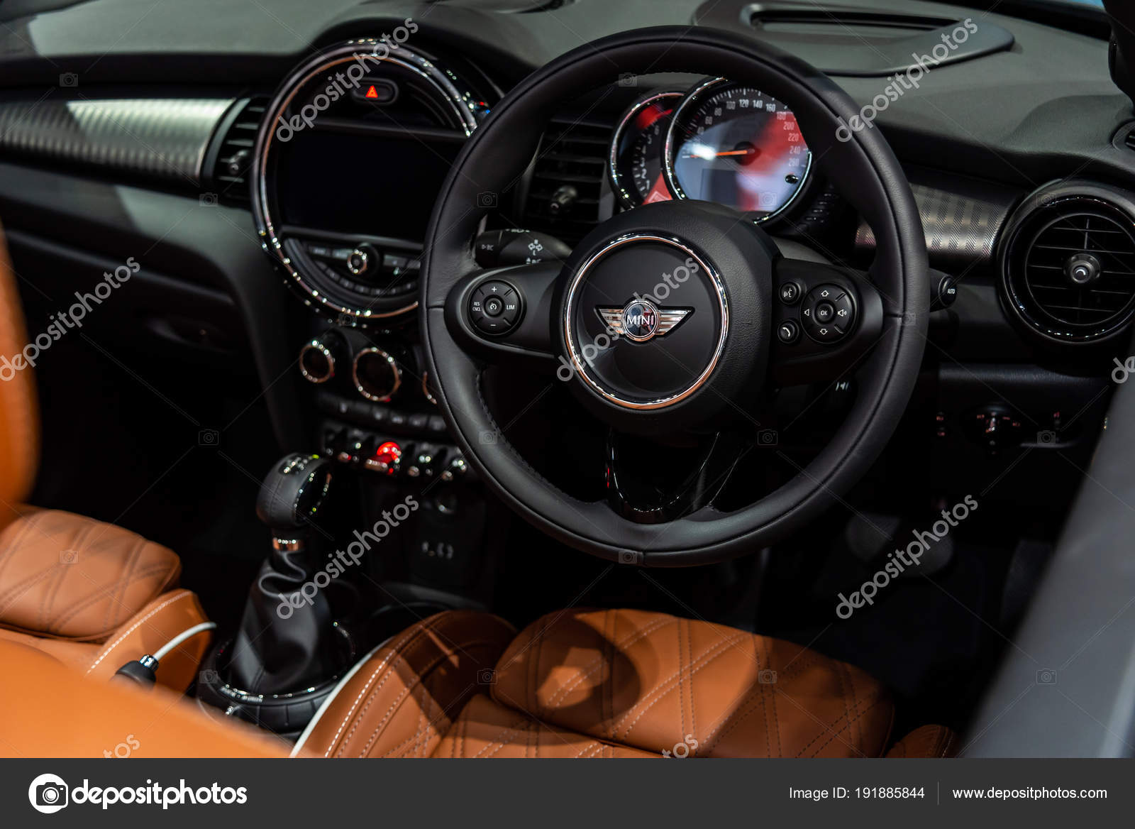 Inside of Mini Cooper S : Convertible on display at The 39th