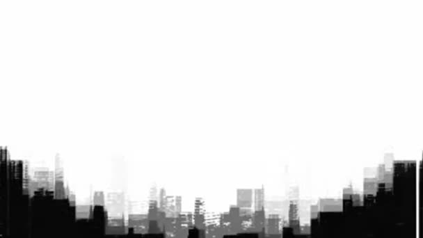 Abstraktní město. Pozadí s výhledem na město, spořič obrazovky nebo záběry