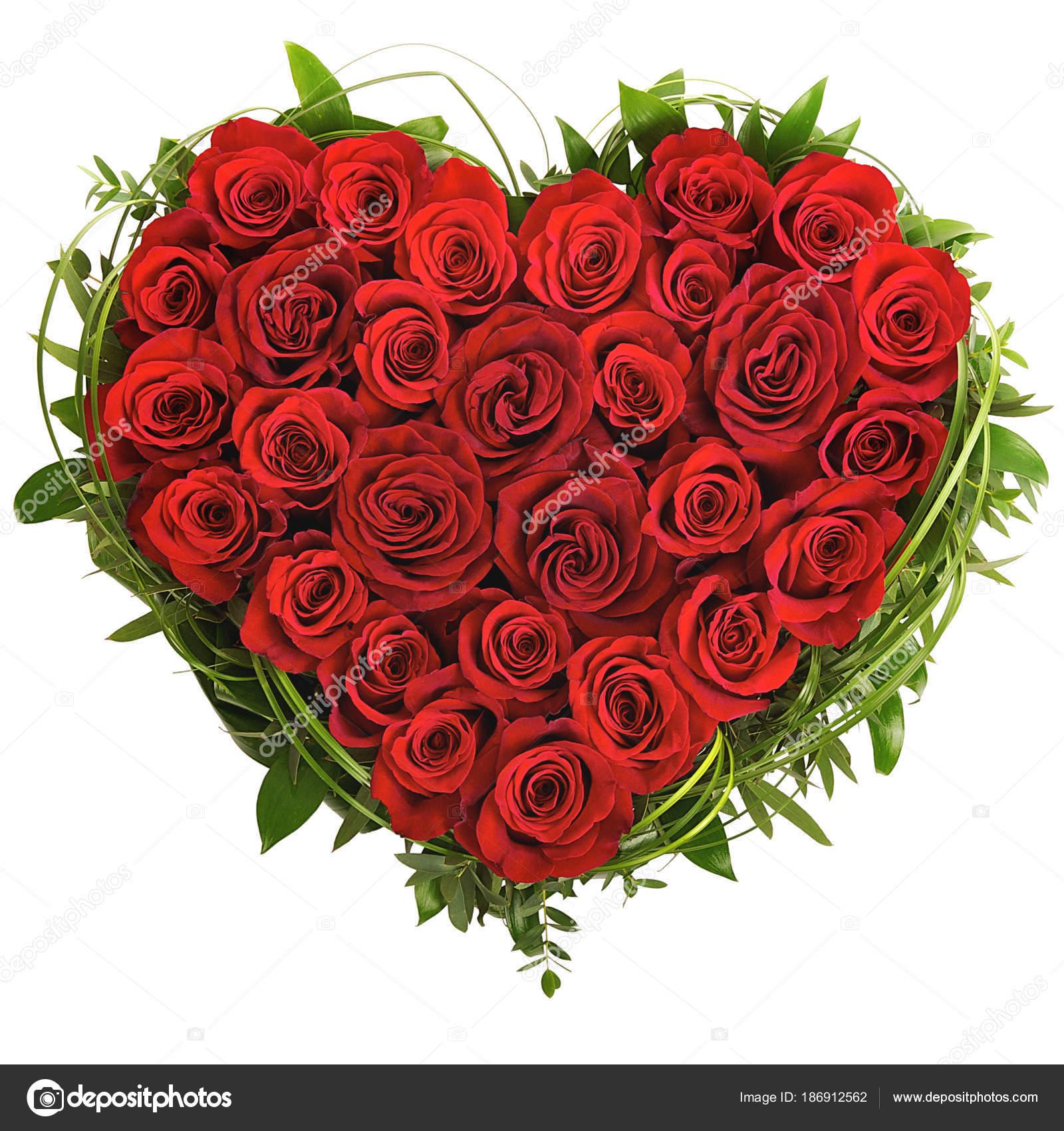Imágenes Corazon Con Rosas Corazón Rosas Sobre Fondo Blanco