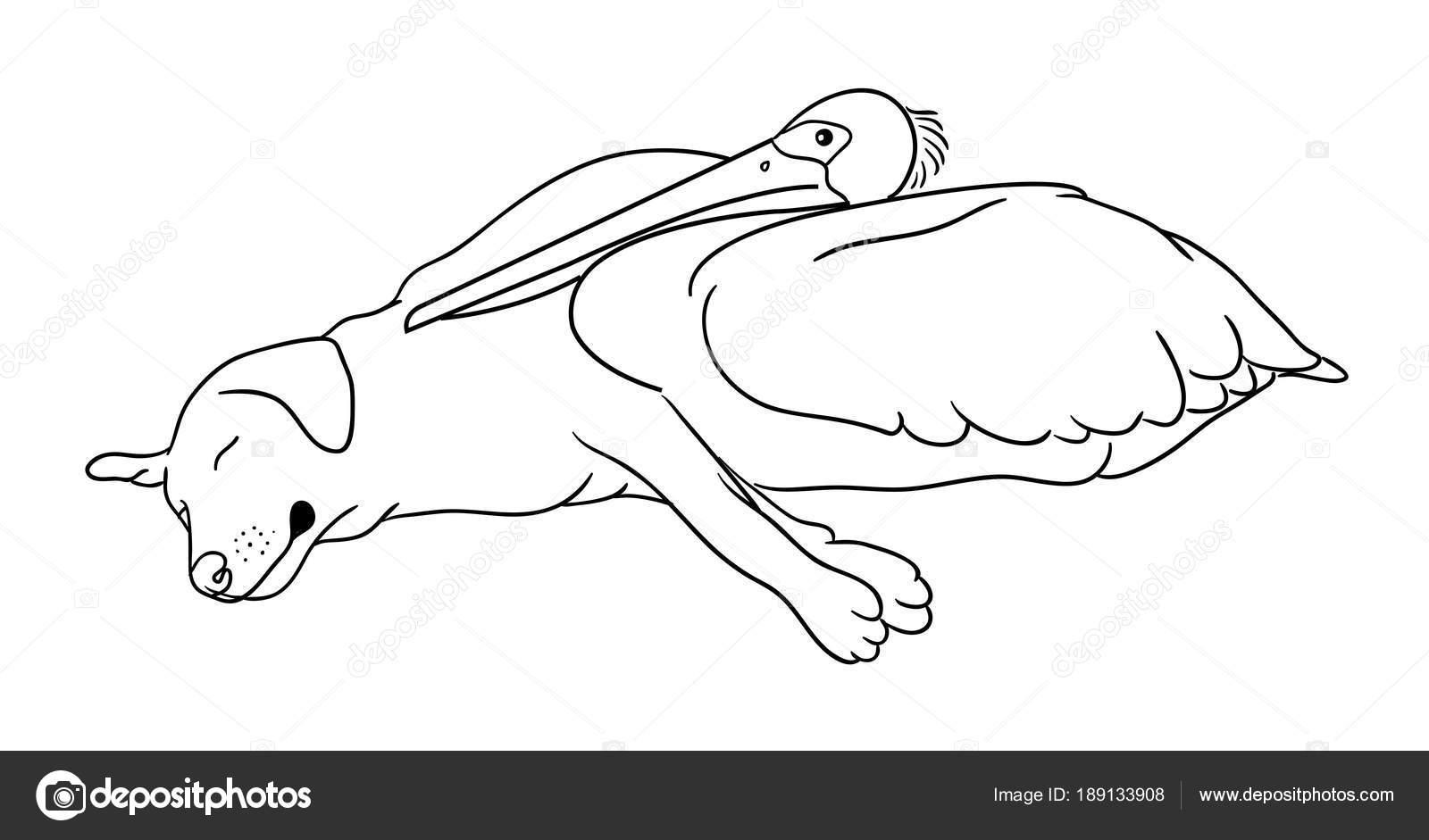 Lindo Perro Línea Art Buen Uso Símbolo Logo Icono Web — Vector de ...