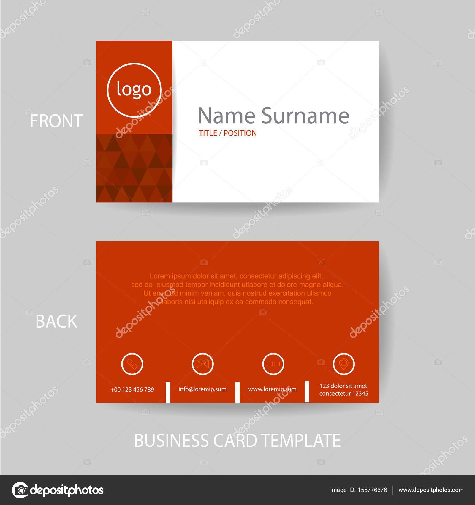 Vektor Modern Und Sauber Rot Visitenkarte Design Vorlage