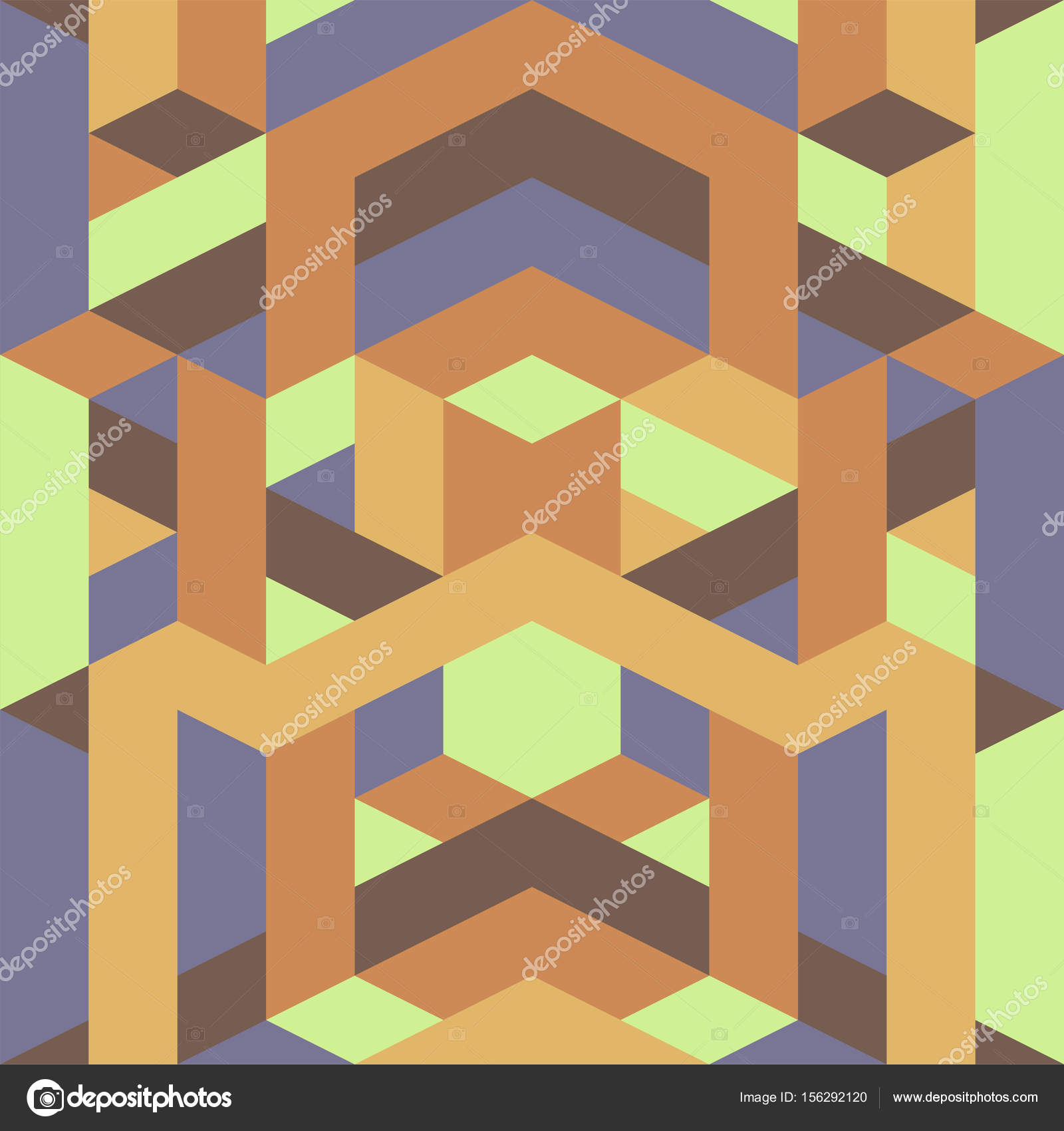 abstract retro geometric pattern yellow brown earth tone color