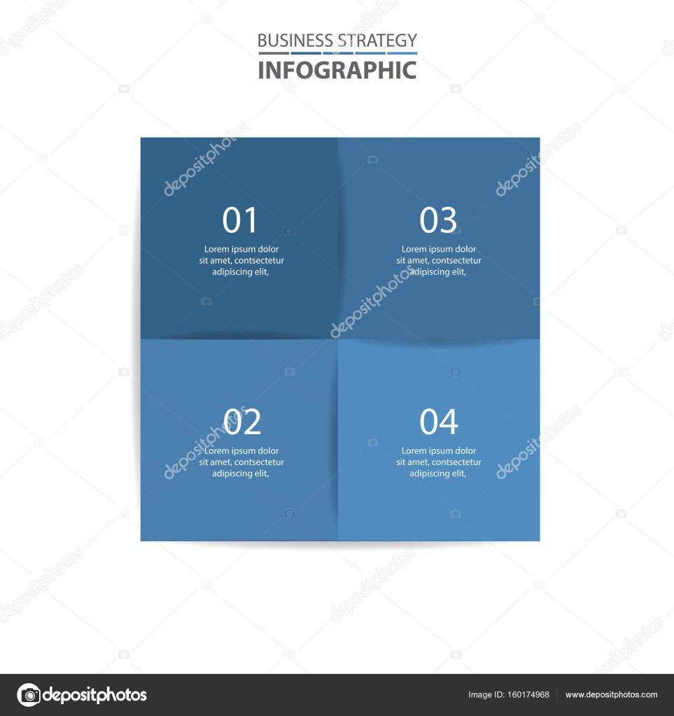 Básico negocios infografía diseño plantilla ilustración — Vector de ...