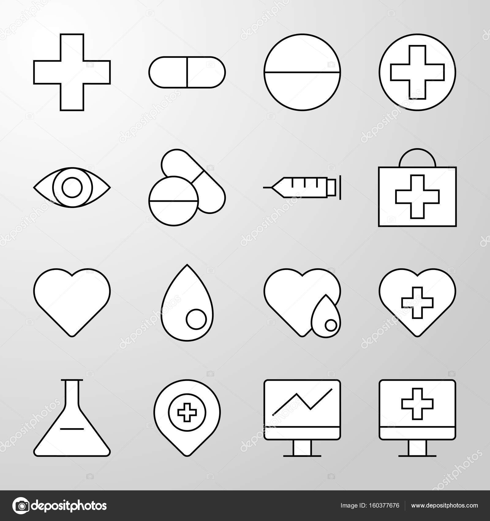 Medical hospital health thin line vector icon stock vector set of simple medical hospital healthcare professional and medical equipment thin line vector icon editable stroke 64x64 pixel perfect icons biocorpaavc Choice Image