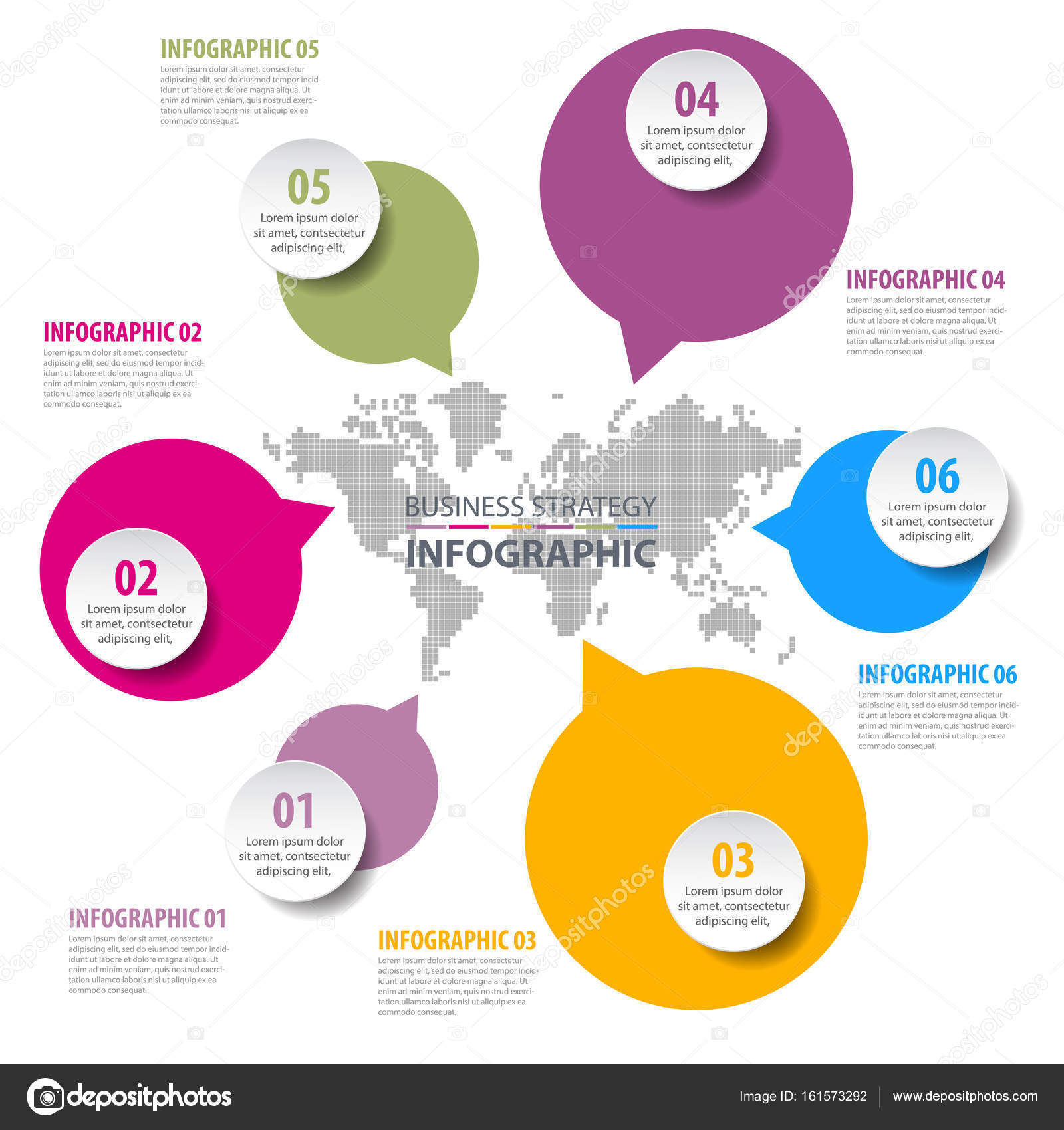 Negocios infografía diseño plantilla ilustración — Vector de stock ...