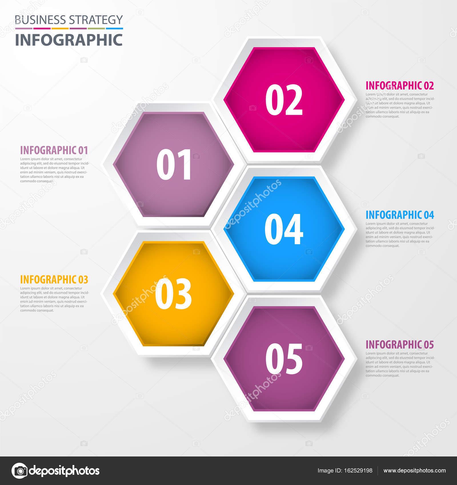Negocios infografía diseño plantilla ilustración — Archivo Imágenes ...