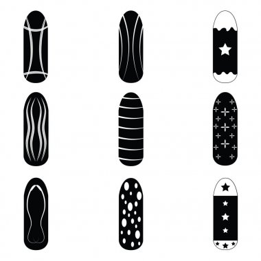 nails painted icon set