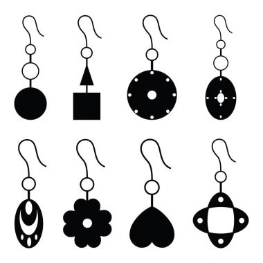 the earrings icon set