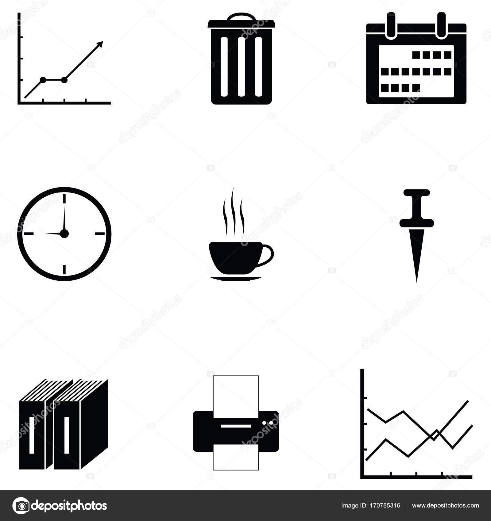 Das Buro Icon Set Stockvektor C Kateen2528 170785316