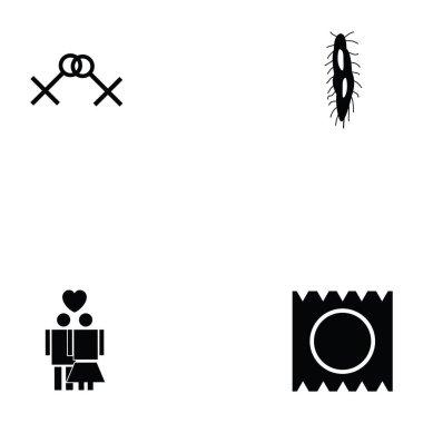 HIV icon set