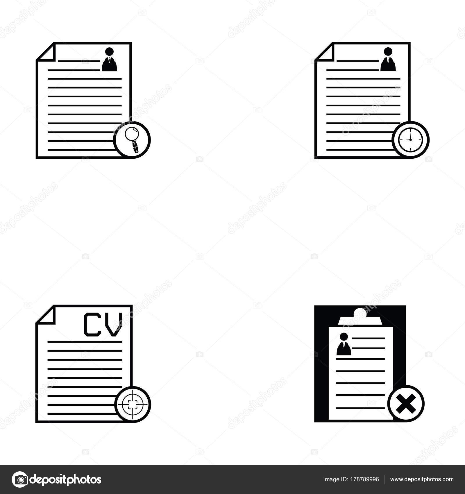 conjunto de iconos de reanudar — Vector de stock © kateen2528 #178789996