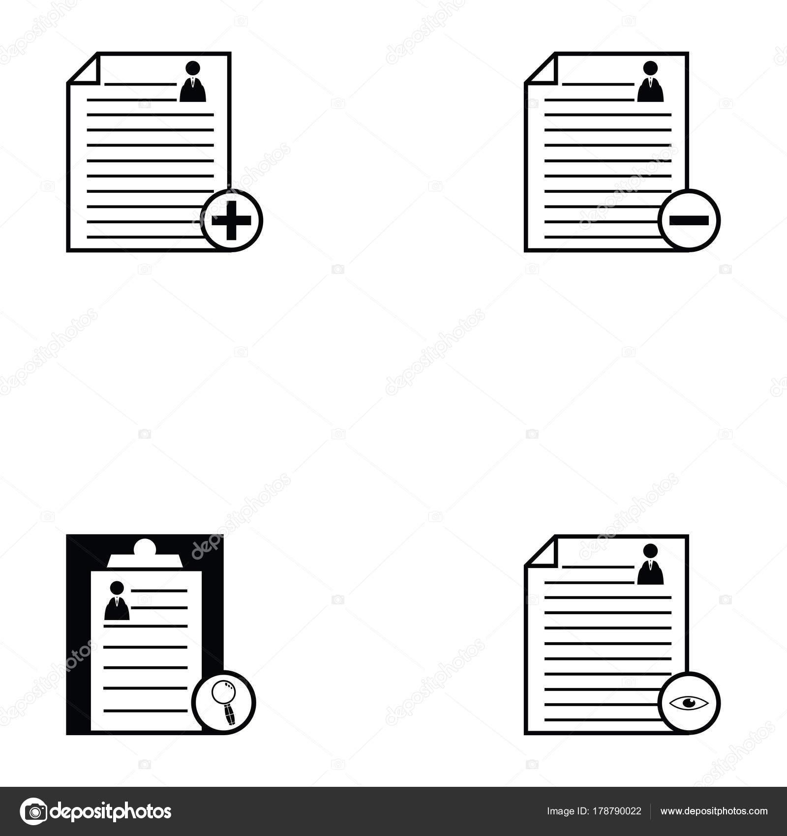 conjunto de iconos de reanudar — Vector de stock © kateen2528 #178790022