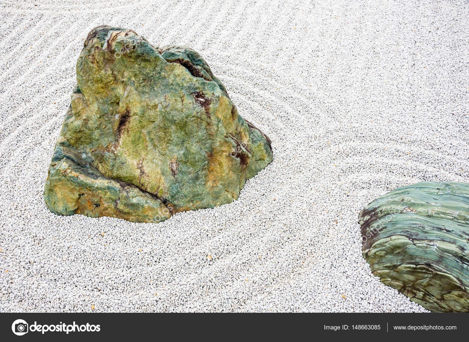 Jardin Mineral Zen Photo japanese zen garden meditation stone in lines sand for