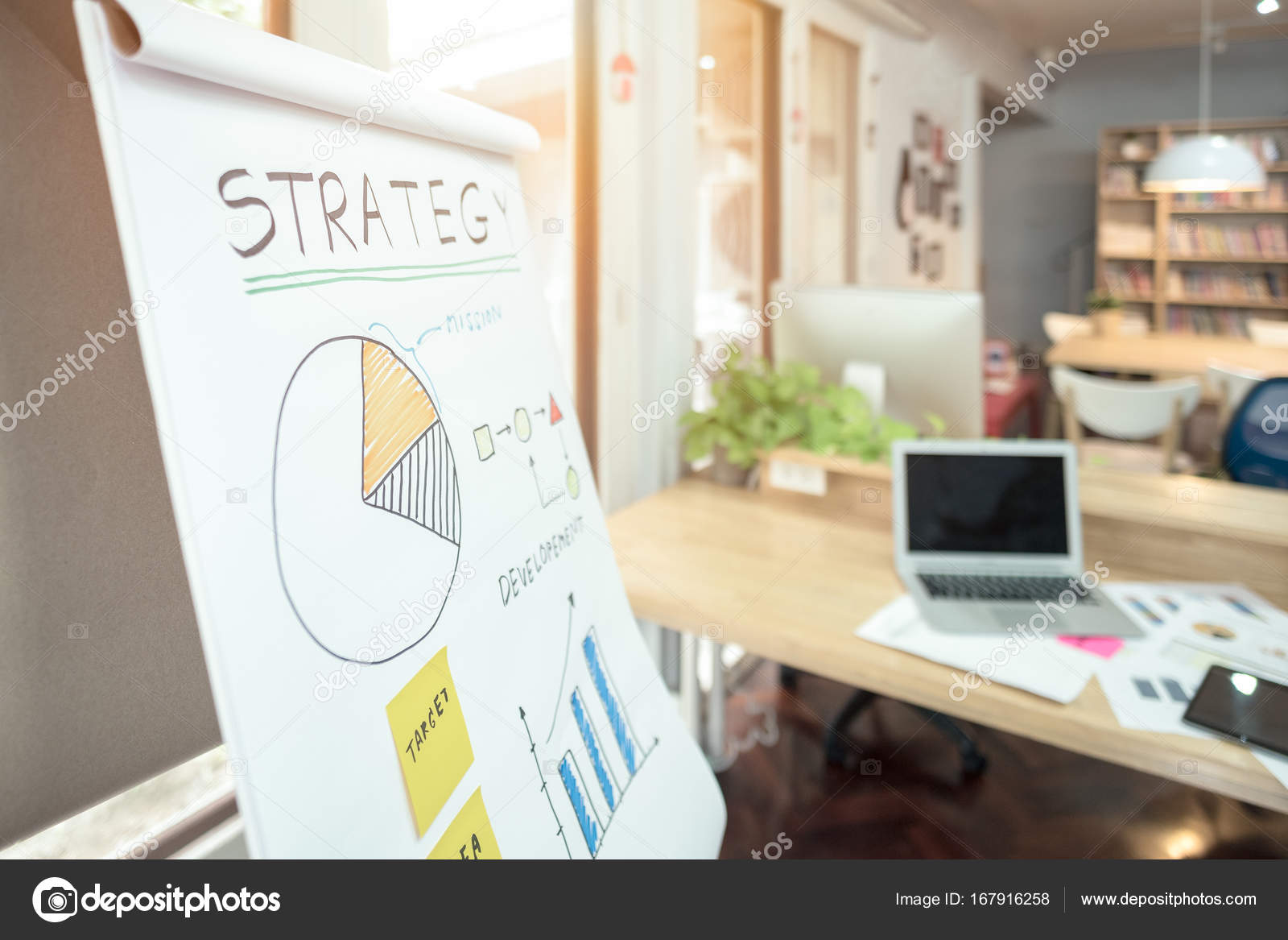Strategy business plan write on white paper for entrepreneur meeting ...